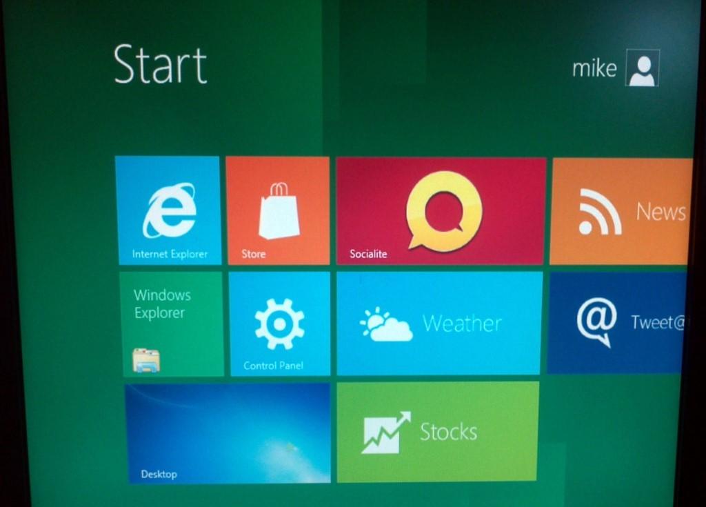 Start Menu Screen