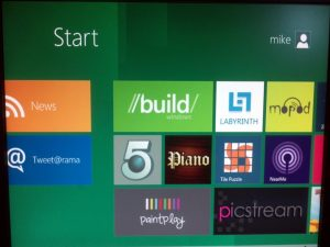 Start Menu Screen
