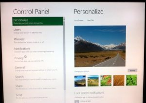 Control Panel - Personalize