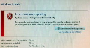 Windows Update - Turn on automatic updates