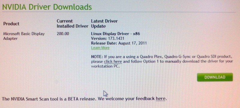 NVIDIA Driver download for linux x86