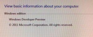 Windows 8 version information