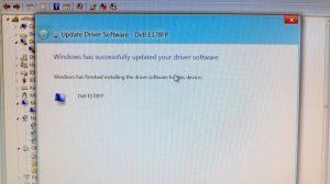 Update Driver Software - Dell E178FP
