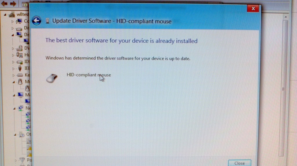 Update Driver Software - HID compliant mouse