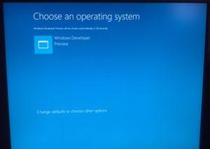 Windows 8 Developer Preview x86版のインストール時の画面。