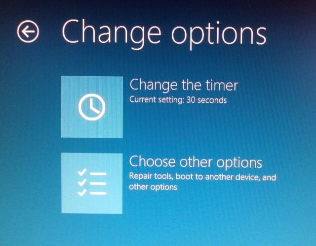 Change options