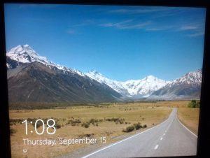 Screen that microsoft likes...desert..