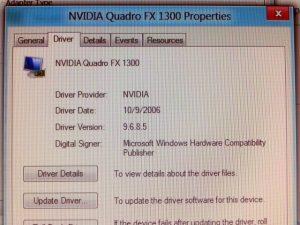 NVIDIA Quadro FX 1300 Property