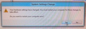 System Settings Change Dialog