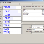 HP XW4400 ZOTAC ION-A-E 512MB搭載時のCrystalmarkのスコア