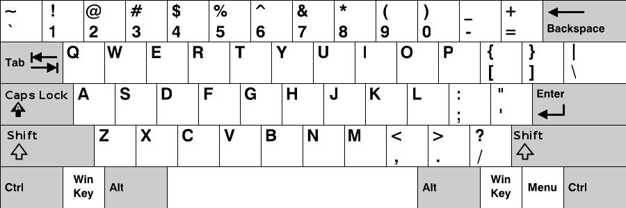 キーボード 英語 101/102