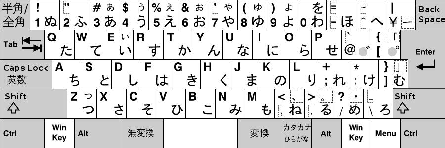 キーボード 日本語 106/109