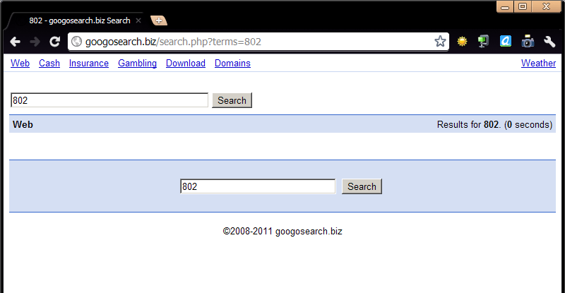 Malicious website screen that looks like google from few years ago.
