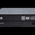 HP DVD Writer 1260tがメディアを認識しない