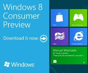 Windows 8 Consumer Preview ダウンロード ISO