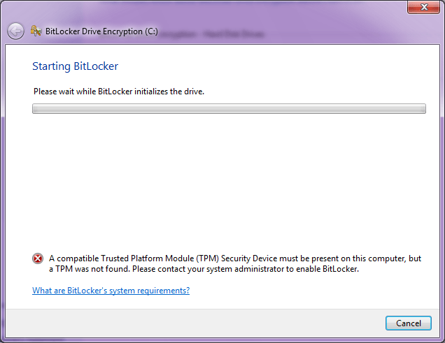 Bitlocker Error English