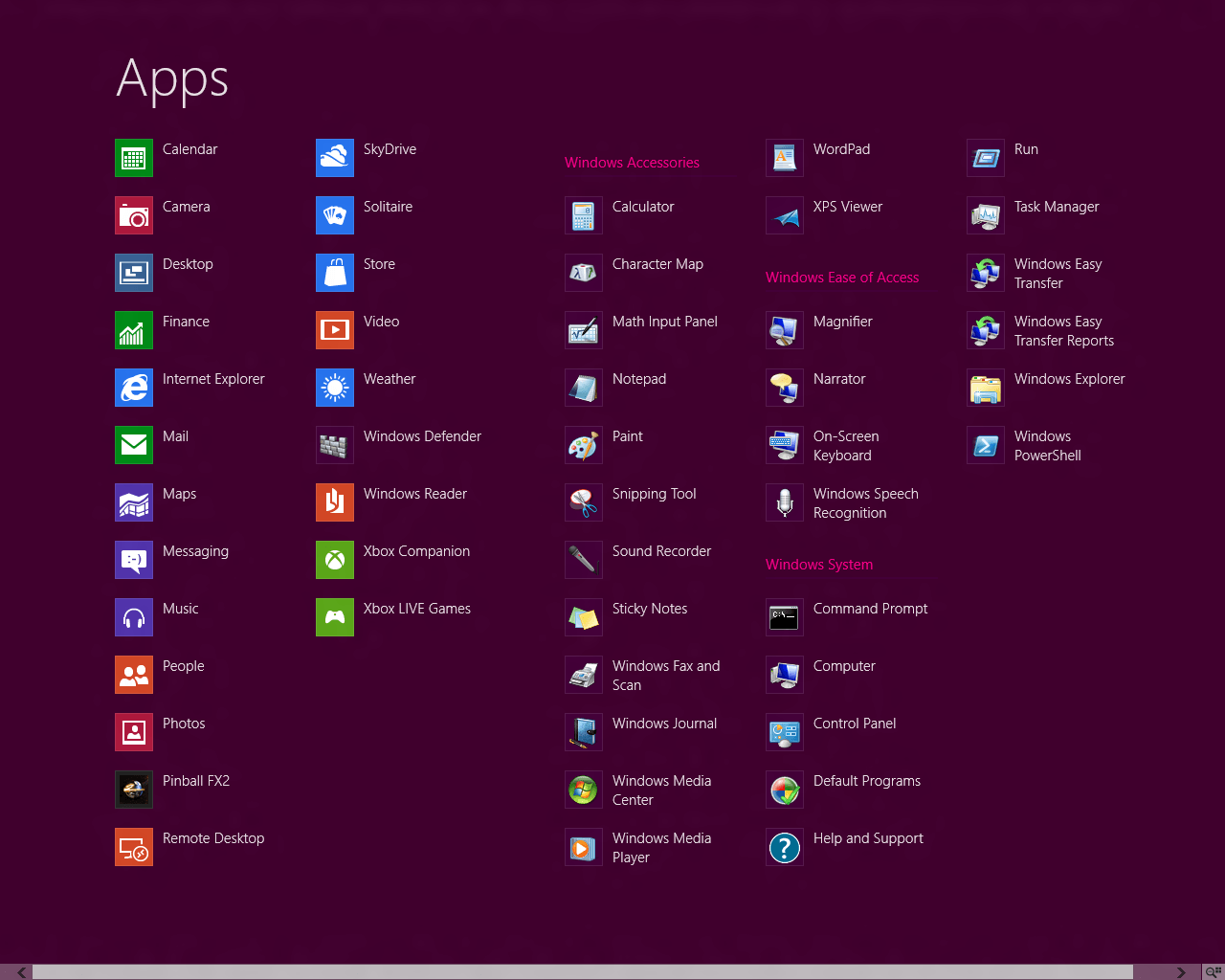 Windows 8 Consumer Preview (CP)の様々な画面1