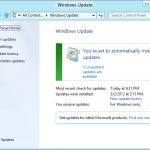 久しぶりにWindows 8 CPを作動させてWindows UpdateをしてみたらImportantが12個