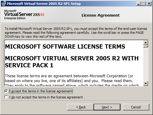 Virtual Server 2005 R2 Enterprise Edition
