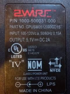 P/N: 1000-500031-000; Part No.: GPUSW0512000GD1S
