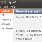 Sysinfoを使ってUbuntuでハードウェア情報を知りたい場合