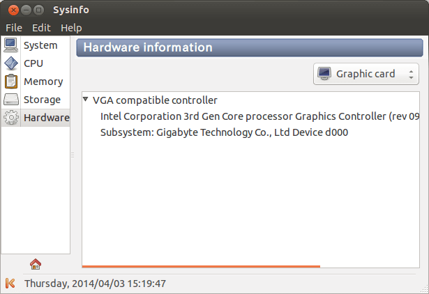 Sysinfo Hardware Information (Graphic Card)