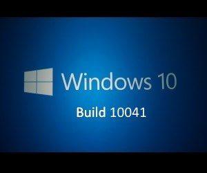Windows 10 テクニカルプレビュー 10041