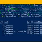 Windows 10のアップグレード履歴を表示する