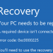 エラーコード0xc0000225の解決策(Windows 7/8/8.1/10)